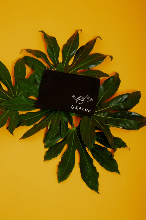 Graine Clothing - Pochette Tournesol - Couleur Jet Black