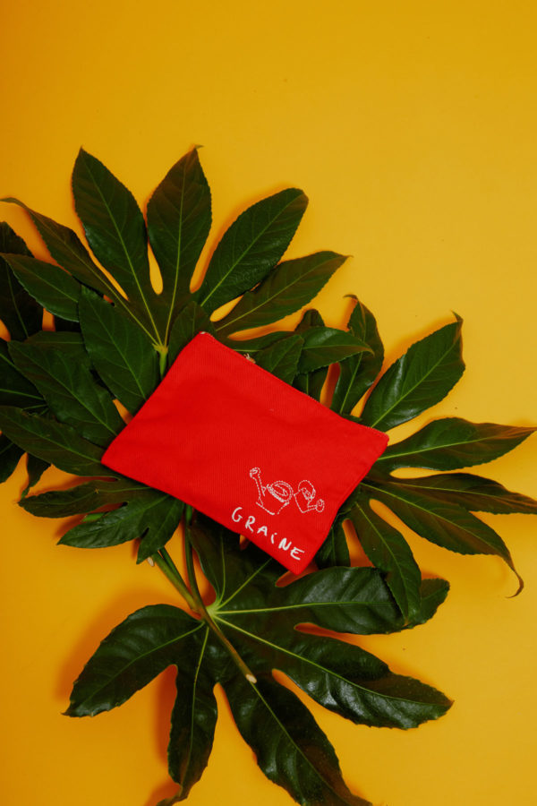 Graine Clothing - Pochette Tournesol - Couleur Fiery Red