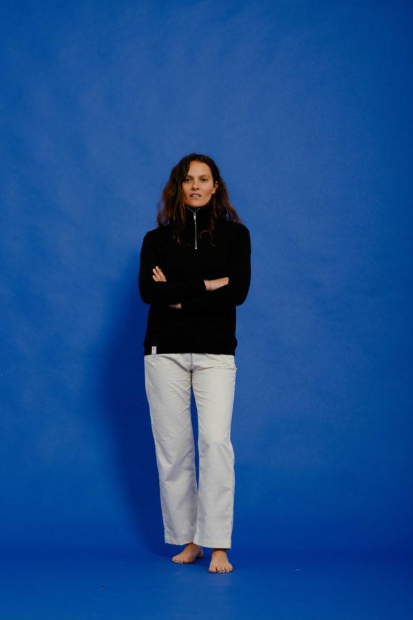 Graine Clothing - Sweat-Shirt Fleur - Couleur Jet Black