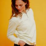 Graine Clothing - Sweat-Shirt Fleur - Couleur Winter White