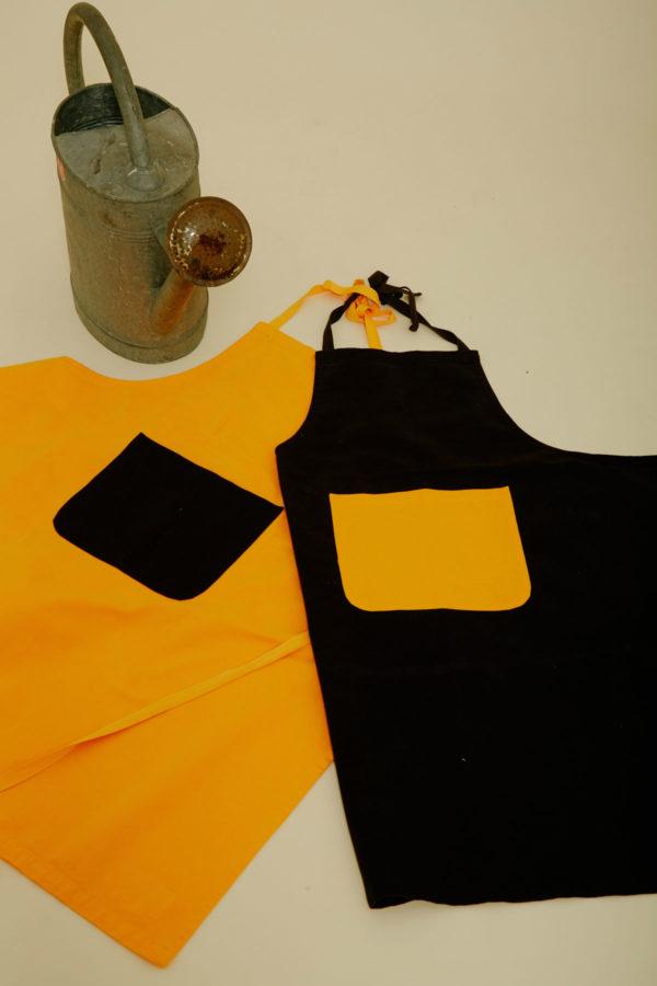 Graine Clothing - Tablier Tige packshot - Couleur Jet Black