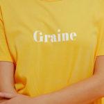 Graine Clothing - T-Shirt Pétale - Couleur Saffron