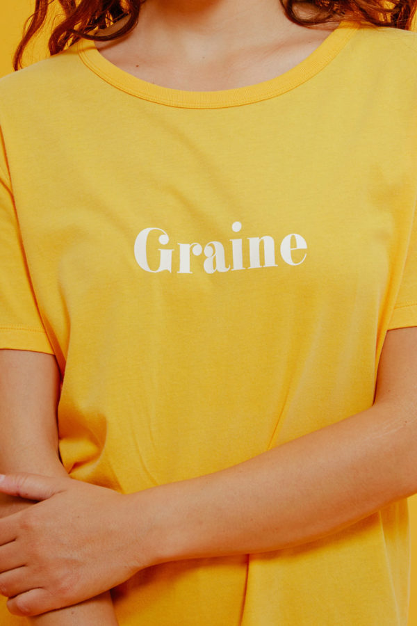 Graine Clothing - T-Shirt Pétale - Couleur Saffron