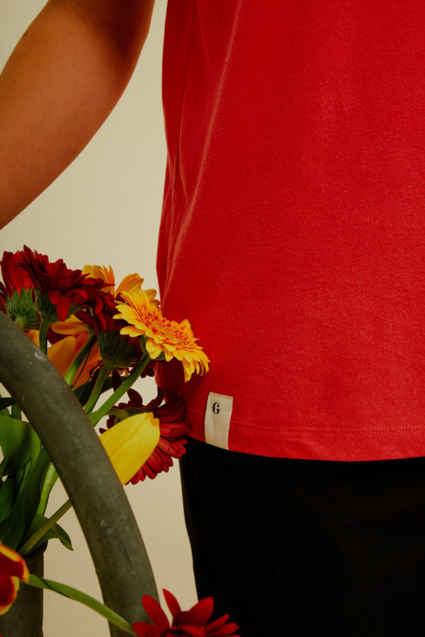 Graine Clothing - T-Shirt Potager - Couleur Fiery Red