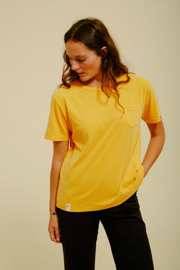 Graine Clothing - T-Shirt Bouton - Couleur Saffron