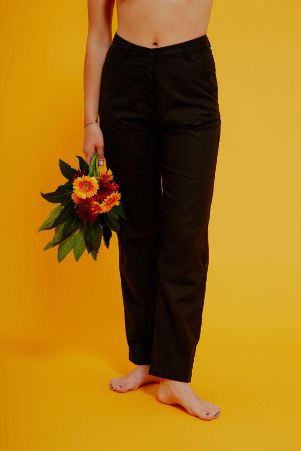 Graine Clothing - Pantalon Bulbe - Couleur Jet Black