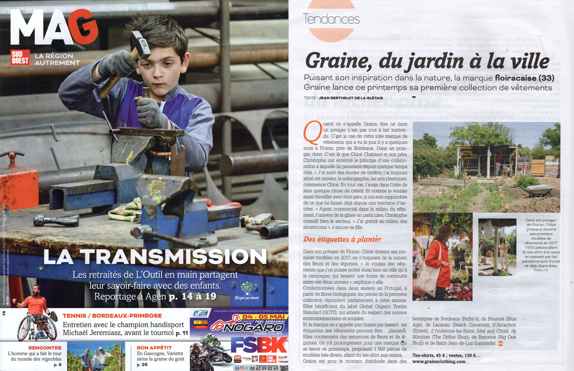Graine Clothing - Presse - Mag Sud Ouest