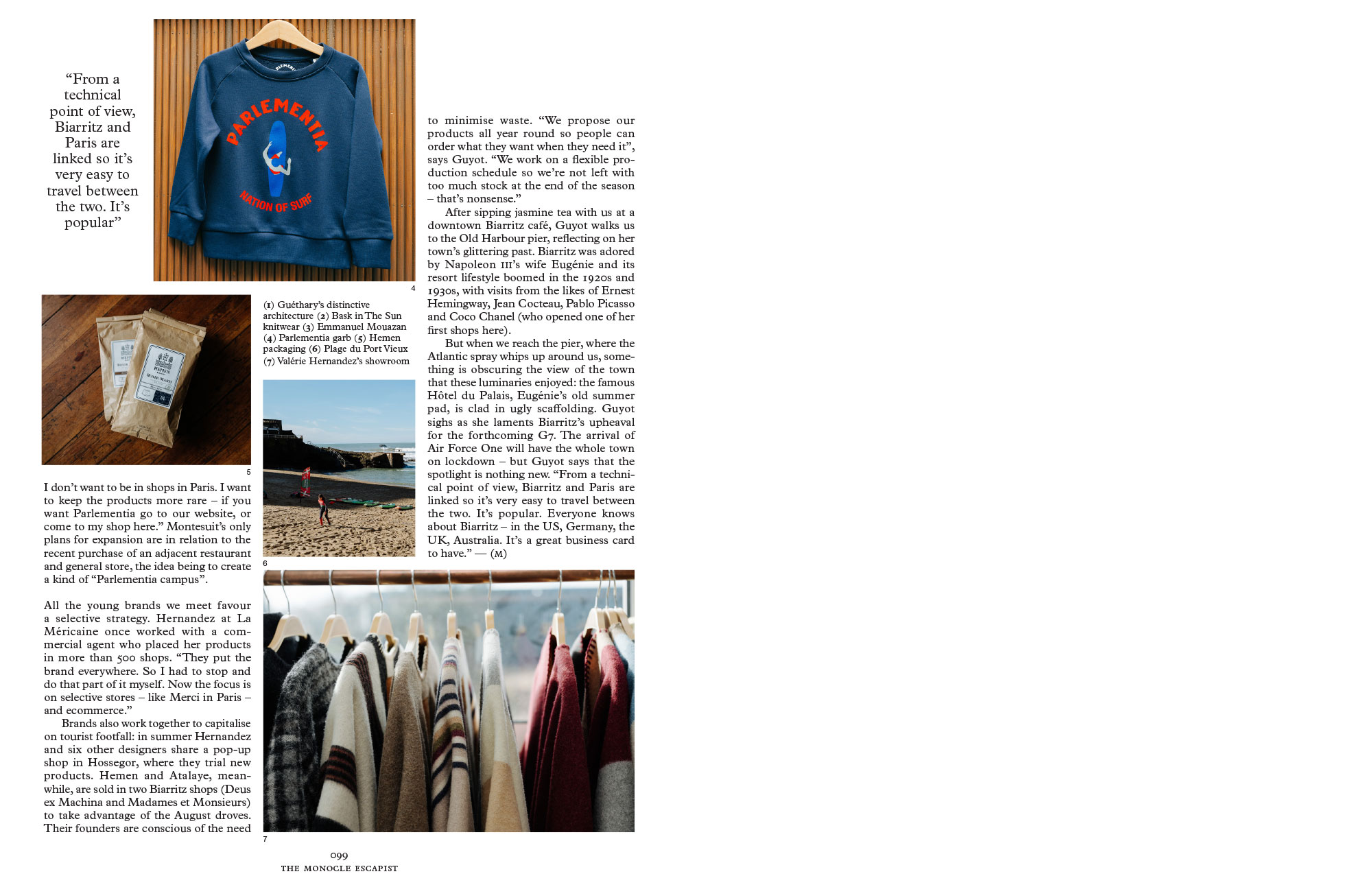 Graine Clothing - Presse - Monocle The Escapist