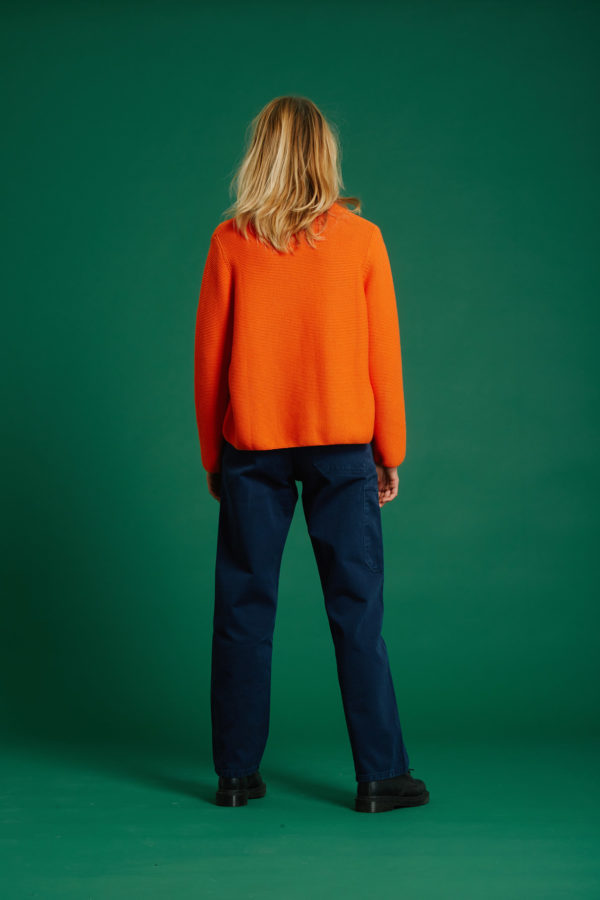 Pull No Stress - Orange - Graine Collection De(ux) Saisons FW19