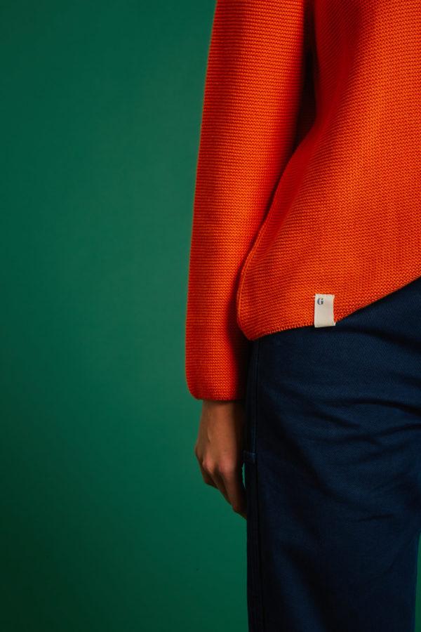 Pull No Stress - Orange - Graine Collection De(ux) Saisons FW19