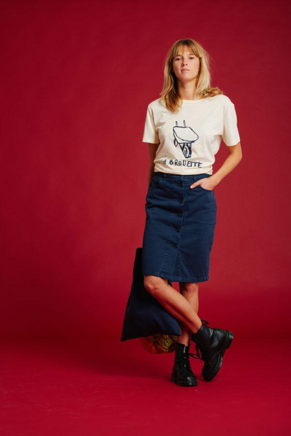 T-Shirt Brouette - Winter White - Graine Collection De(ux) Saisons FW19