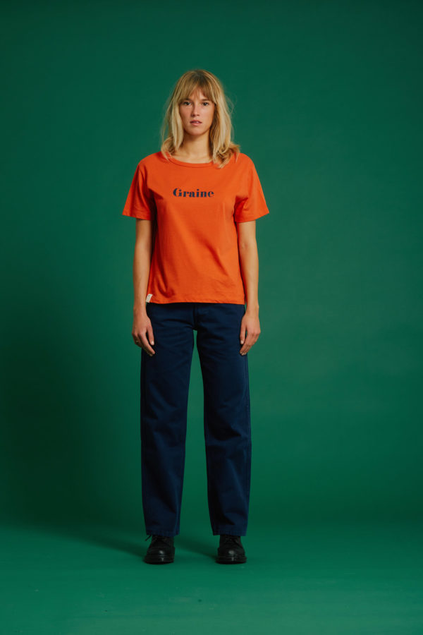 T-Shirt Hiver - Orange - Graine Collection De(ux) Saisons FW19
