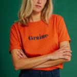 T-Shirt Hiver - Orange - Graine Collection De(ux) Saisons FW19