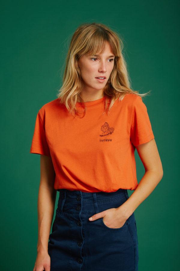 T-Shirt Potiron - Orange - Graine Collection De(ux) Saisons FW19