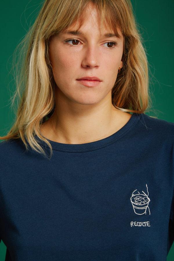 T-Shirt Récolte - Navy - Graine Collection De(ux) Saisons FW19