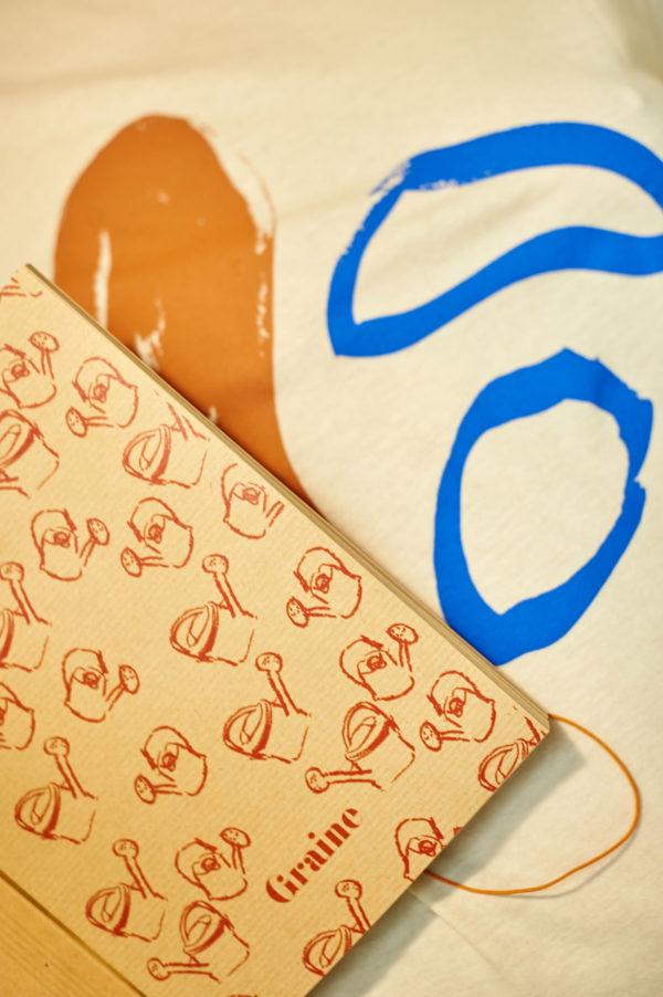 Graine - Collaboration La Compagnie du Kraft - Carnet Arroser l'amour orange