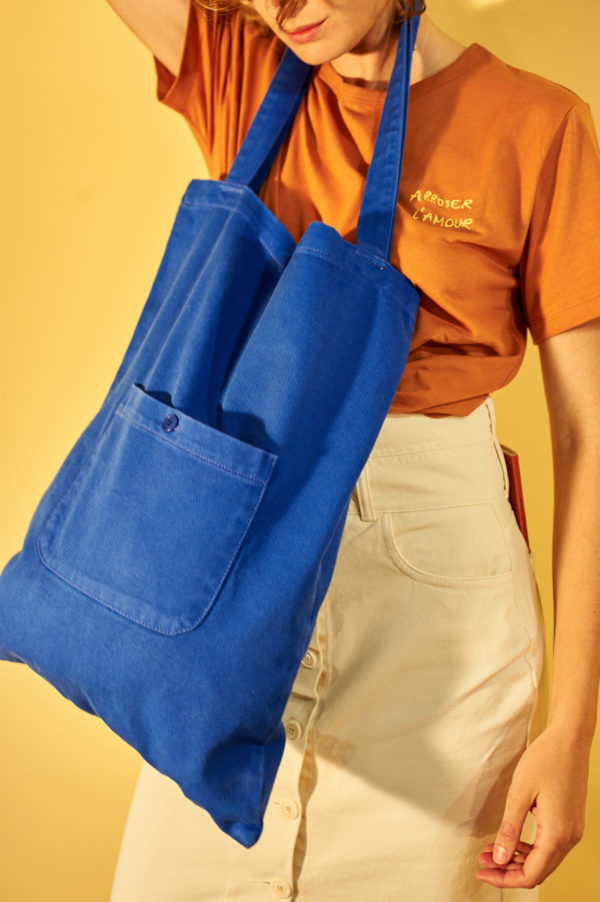 Graine SS20 - Sac Poireau couleur Dazzling Blue bleu roi