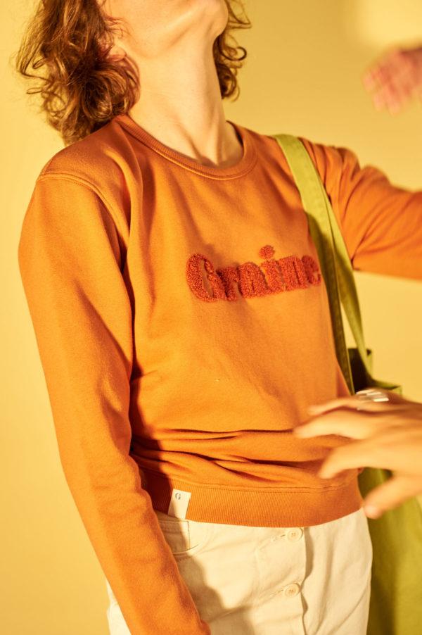 Graine SS20 - Sweat Carotte Tuolo terracotta
