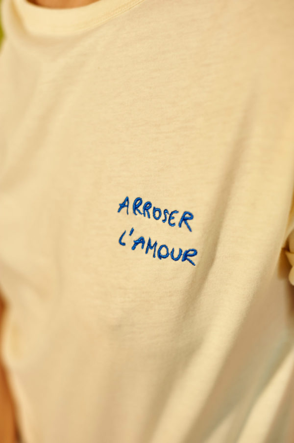 Graine SS20 - T-Shirt Arroser l'amour Winter White blanc