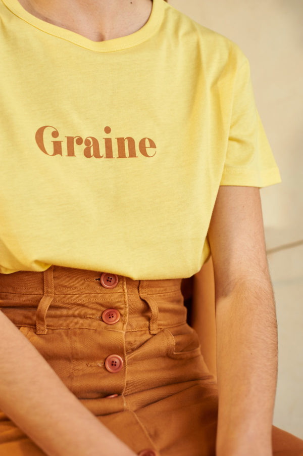 Graine SS20 - T-Shirt Fenouil Yarrow jaune bouton d'or