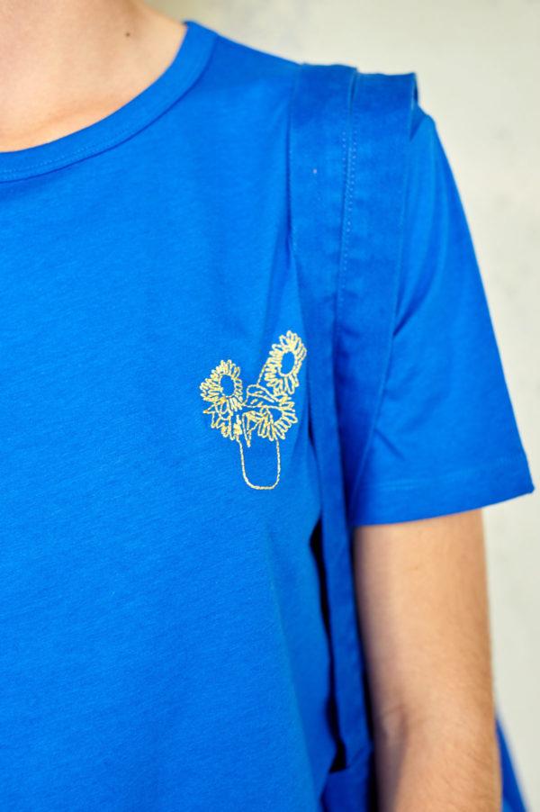 Graine SS20 - T-Shirt Tournesol Dazzling Blue bleu roi