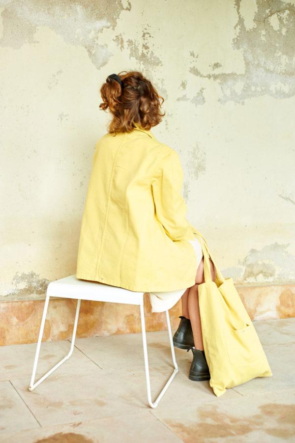 Graine SS20 - Veste Graine Yarrow couleur jaune bouton d'or