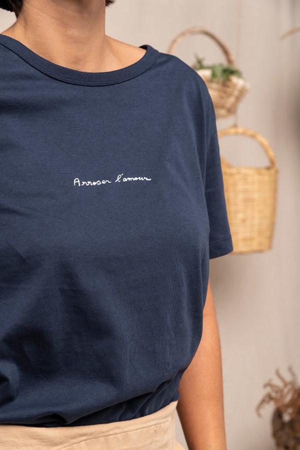 Graine Fw20 Tshirt Arroser Lamour Marine Grarroser001 1