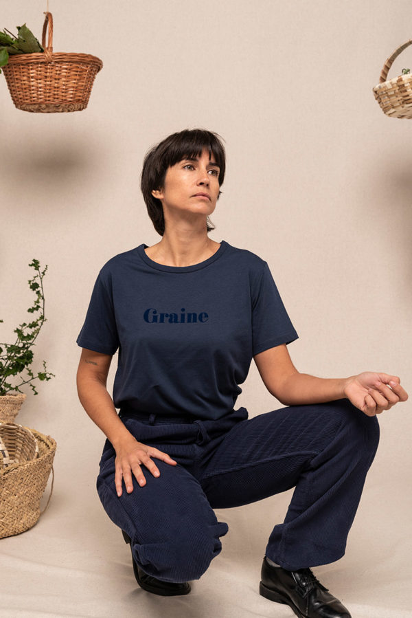 Graine Fw20 Tshirt Cage Amour Marine Grcage003