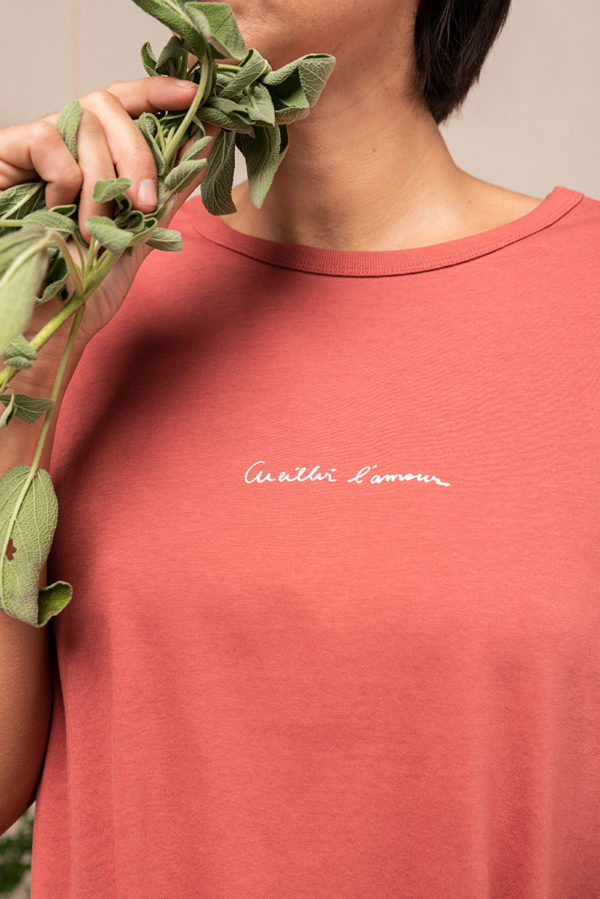 Graine Fw20 Tshirt Cueillir Lamour Rose Ecrase Grcueillir002