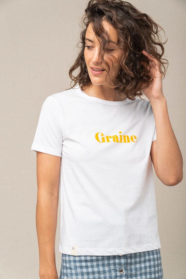 Graine Tshirt Ss21 Ecume 002